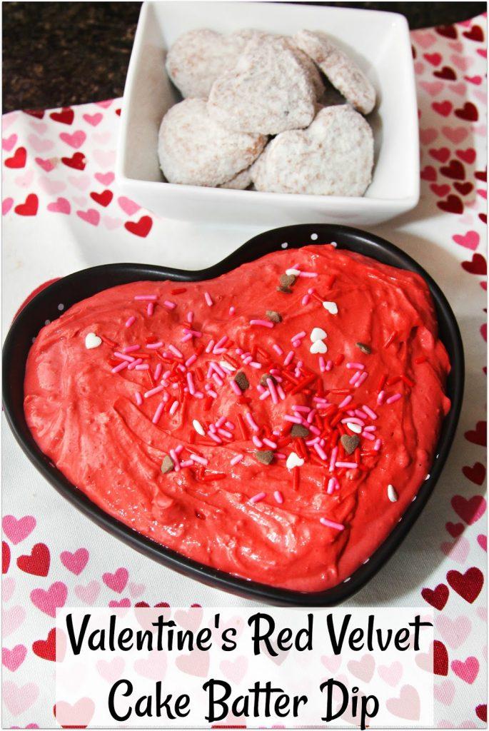 Valentine's Red Velvet Cake Batter Dip