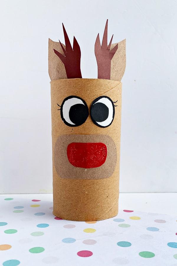 Reindeer Toilet Paper Roll Craft for Kids