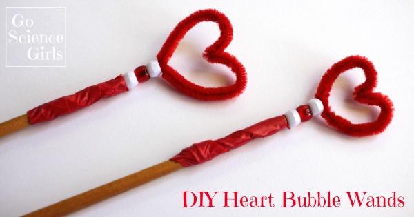 DIY Heart Shaped Bubble Wand – Go Science Kids