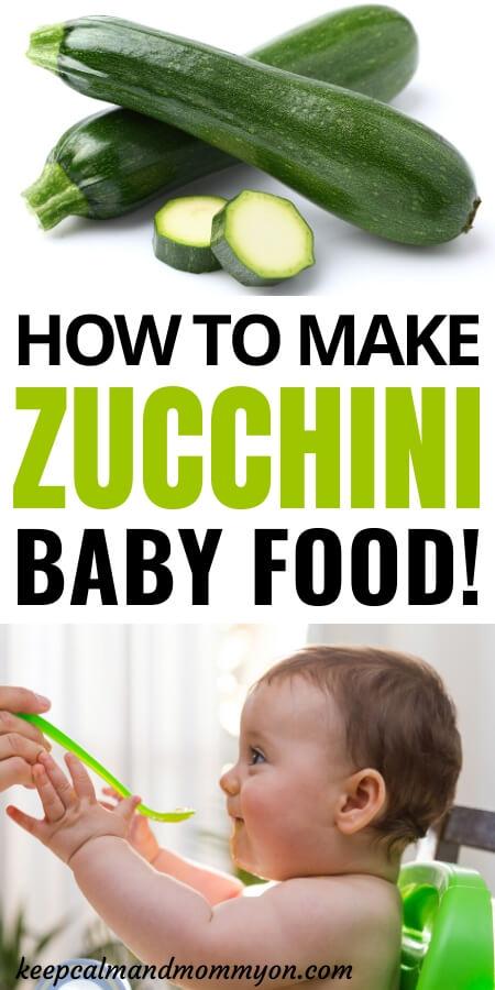 Zucchini Baby Food