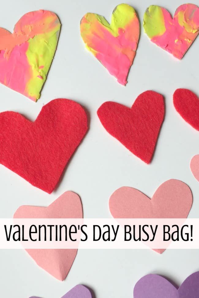 Valentine's Day Busy Bag: Fun with Sorting Hearts