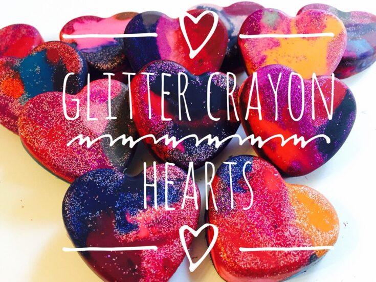 Glitter Heart Crayons