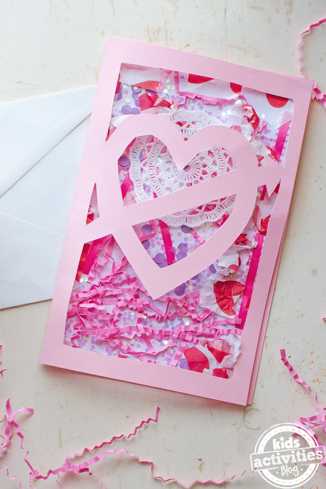 Valentines Home Made Card {Super Cool Idea!}