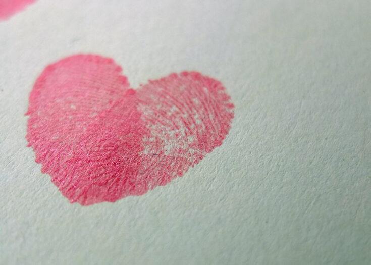 Valentine's Craft – Fingerprint Love Hearts