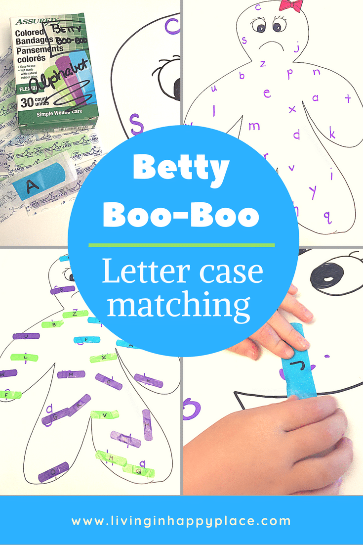 Letter matching activity for preschool or kindergarten letter practice