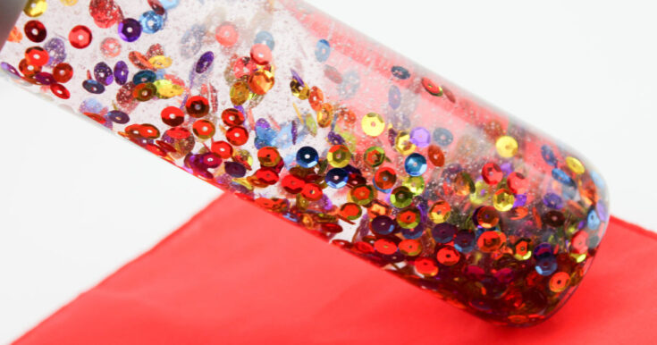 Beautiful, Relaxing Rainbow Sensory Bottle Craft