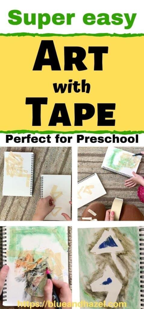 Tape Resist Art Technique For Preschoolers