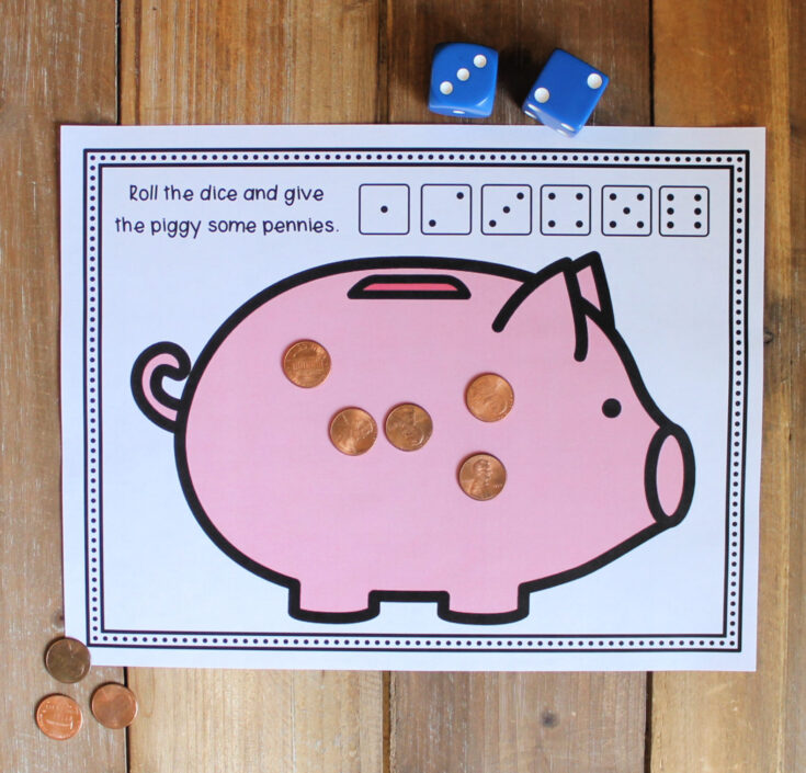 Feed the Piggy Bank Math Activity – Fun, Free Printable!