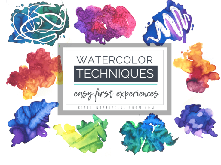 Watercolor for Kids- 9 Watercolor Techniques for Any Age