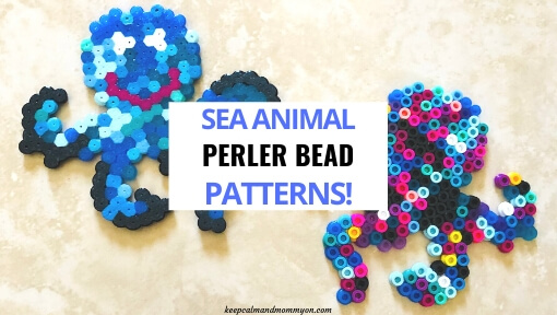 6 Perler Bead Sea Animals