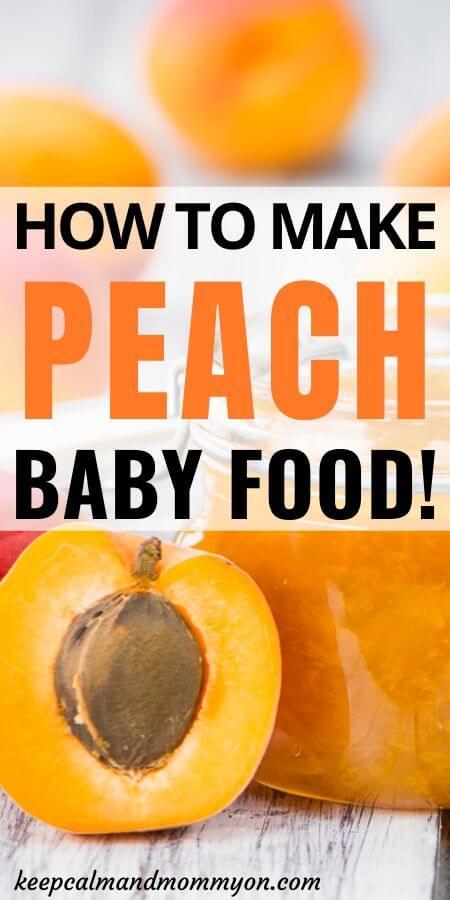 Peach Baby Food